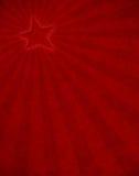 红色星形光束 库存图片