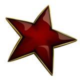 红色星形 库存图片