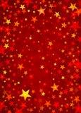 红色星形 库存例证
