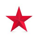 红色星3d 库存图片