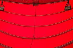 红色曲线遮篷 库存图片