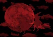 红色月亮巫婆 库存图片