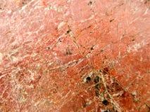 红色月亮表面裂缝大理石花岗岩石头豪华 库存照片