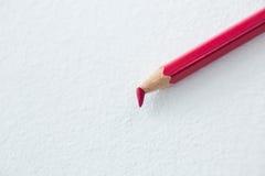 红色有残破的技巧的色的铅笔 库存图片