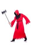 红色服装的刽子手 库存照片