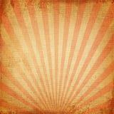 红色朝阳或太阳光芒 库存图片