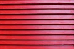红色木板条纹理 库存照片