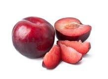 红色李子果子 库存图片