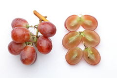 红色束的葡萄 免版税库存照片