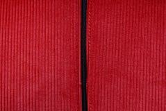 红色条绒织品 免版税库存图片