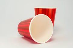 红色杯 免版税库存图片