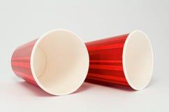 红色杯 库存图片
