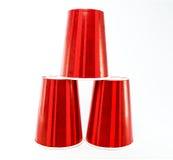 红色杯 免版税库存照片
