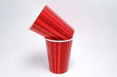 红色杯 免版税图库摄影