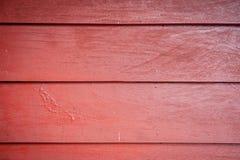 红色板条背景或木板纹理 免版税库存照片