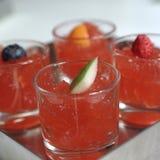 红色果冻用果子 库存照片