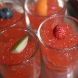 红色果冻用果子 图库摄影