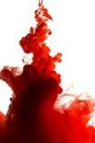 红色染料在水中 免版税图库摄影