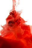 红色染料在水中 图库摄影