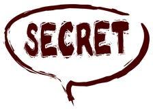 红色标志速写了与秘密消息的讲话泡影 免版税库存照片
