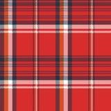 红色格子花呢披肩织品纹理映象点无缝的样式 向量例证