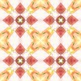 红色桃红色橙色方形的无缝的瓦片 柔和曲调的优美的抽象纹理 详细的发光的背景例证 纺织品印刷品 皇族释放例证