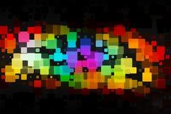 红色桃红色青绿的褐色发光的各种各样的瓦片背景 库存图片