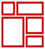 红色框架集合 免版税库存图片