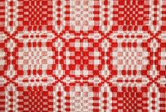 红色桌布 库存照片