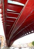 红色桥梁在威尼斯 图库摄影