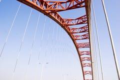 红色桥梁曲拱 免版税库存图片