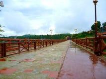 红色桥梁 免版税库存照片