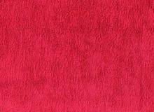 红色棉花毛巾纹理 库存图片