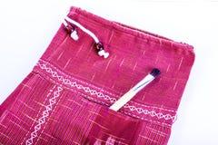 红色棉花裤子 库存图片
