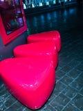 红色椅子夜 库存图片