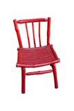 红色椅子查出 免版税库存图片