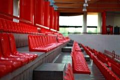 红色椅子行  图库摄影