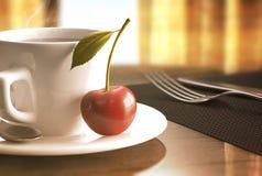 红色樱桃咖啡 免版税库存图片
