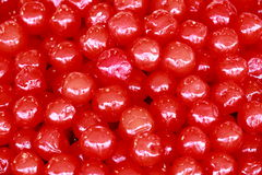 红色樱桃蜜饯堆  库存图片