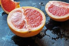红色橙色一半风景边 免版税库存照片