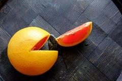 红色橙色楔子风景上面 免版税库存图片