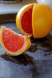红色橙色楔子画象边细节 免版税库存图片