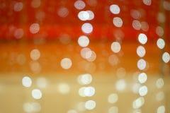 红色橙黄光bokeh 抽象背景弄脏了 图库摄影