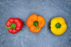 红色橙黄色胡椒 免版税库存图片