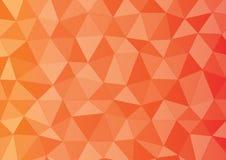 红色橙黄色三角 免版税图库摄影