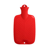 红色橡胶医疗热水袋用水填装了 库存照片