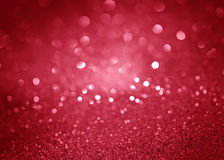 红色欢乐圣诞节摘要bokeh背景 图库摄影