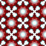 红色欢乐圣诞节星无缝的样式 免版税图库摄影