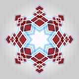 红色欢乐圣诞节星 库存图片