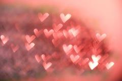 红色欢乐情人节背景 免版税库存照片